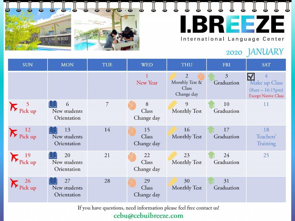 calendar 2020 i breeze