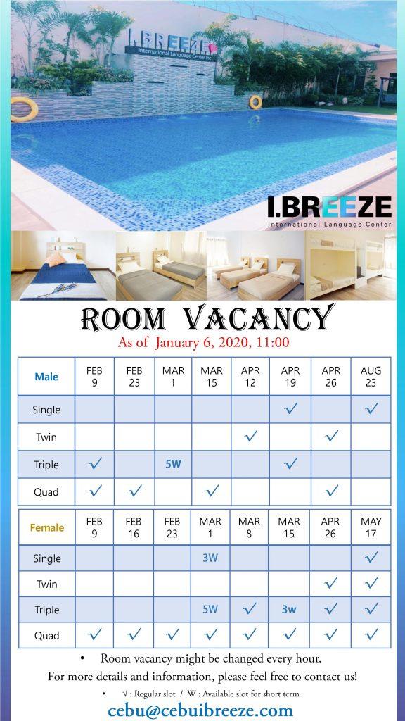room vacancy i breeze
